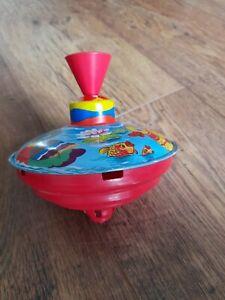 Vintage Children's Spinning Top Toy Duck Design