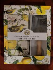 Michel Design Works Lemon Basil Garden Apron & Trowel Gift Set New