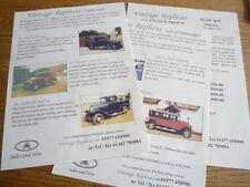 Vintage réplicas Kit Car 'folleto de ventas/Hojas's plus precios 1998