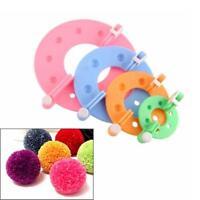 4 Sizes Pompom Maker Fluff Ball Weaver Needle Weaving Knitting Wool Tool CF