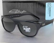 NEW SMITH ROUNDHOUSE POLARIZED SUNGLASSES Smoke Black frame / Grey-Green lens