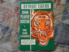 1949 DETROIT TIGERS MEDIA GUIDE Player Roster Baseball Press Book Yearbook AD