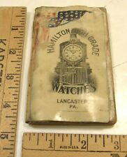 ANTIQUE 1905 POCKET NOTEBOOK ADVERTISING HAMILTON HIGH GRADE WATCHES