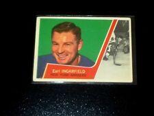 1963-64  TOPPS VINTAGE HOCKEY CARD# 55 EARL INGARFIELD (RANGERS)  VG+