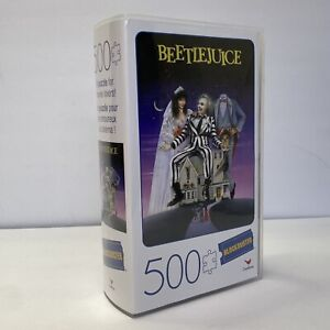 BLOCKBUSTER Beetlejuice VHS Case 500 Piece Jigsaw Puzzle Cardinal Puzzles New