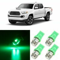 11x GREEN Interior LED Lights Package For 2016 2017 2018 2019 2020 Toyota Tacoma