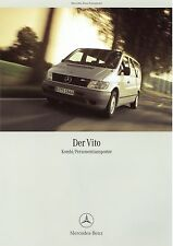 Prospekt 2002 Mercedes Vito Kombi Personentransporter 1 02 brochure Auto Pkw