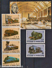 Sao Tome & P. MNH 6v+SS, Train, Railways, Bicentenary George Stephenson  (T2)