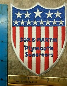 SOX & MARTIN PLYMOUTH SUPERCAR CLINIC PATCH