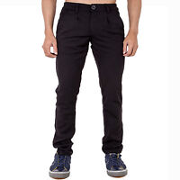 MENS BLACK JEANS TROUSERS STRETCH SLIM FIT TAPERED SMART CASUAL PANTS BY AD DAN