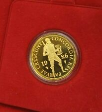 1986 Netherlands Gold Ducat Coin .983 Fine 3.494 Grams with Case, Dutch