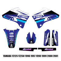 YAMAHA TEAM  GRAPHICS  YZ125 YZ250 1996 1997 1998 1999 2000 2001 DECALS