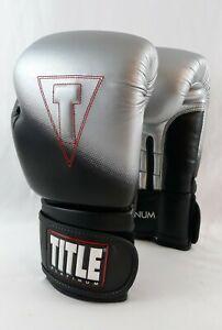Title Boxing Platinum Pro ES-661R1  Training Gloves 12oz Black Silver