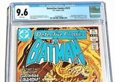 CGC 9.6 DETECTIVE COMICS #523 starring BATMAN * 1st Killer Croc * White Pages