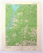 Schell Mountain California Vintage USGS Topo Map 1950 Redding Topographic