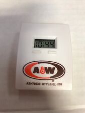 Vintage Small A&W Advertising Digital Clock. New And Works!