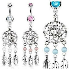 3pc Dream Catcher Navel Rings 14g Belly Naval dreamcatcher wholesale lot (b32)