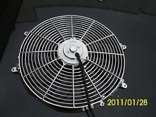 16 INCH 220W 12v  LOW PROFILE CHROME  HIGH PERFORMANCE THERMO FAN 12volt f1