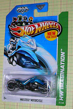 2013 Hot Wheels HW Imagination Max Steel Motorcycle #59/250  gfl  blue