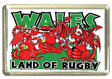 Welsh Dragon - Land of Rugby Fridge Magnet - Wales/Cymru