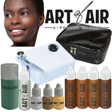 Art of Air Professional Airbrush Cosmetic Makeup System - Dark Foundation Set