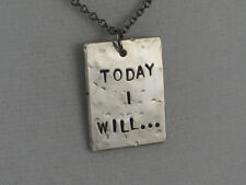TODAY I WILL~18 inch Gunmetal Chain~MOTIVATIONAL NECKLACE~INSPIRATIONAL JEWELRY