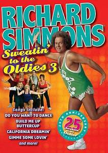 Richard Simmons - Sweatin to the Oldies 3 DVD Fitness Training Exercise NEW