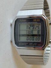 Vintage Pulsar By Seiko W040-5000 Mens Digital Chrono Watch Hours~New