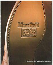 Publicité Advertising 1986 Les Chaussures en Cuir Manfield
