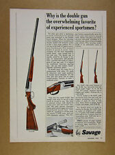 1965 Savage Fox B-DE Double-Barrel Shotgun vintage print Ad