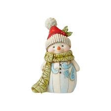 Jim Shore 6006660 Snowman With Pom Pom Mini Figure 2020 NEW Winter