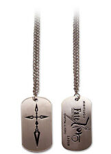 Fate Zero Cross Dog Tag Necklace Anime Manga NEW