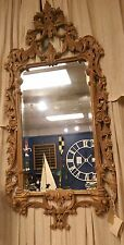 Exquisite French Oak Mirror Hand Carved, Oak Mirror Ornate Mirror Solid Oak