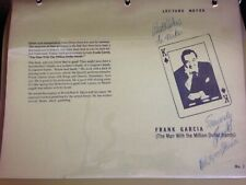 Frank Garcia 1977 Lecture Notes Autographed
