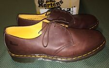 Doc Martens Shoes Made in England Size US 12 Brown 3 eye