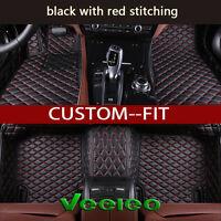 8 Colors Leather Floor Mats for Maserati Ghibli 2014-2017 Waterproof Carpets