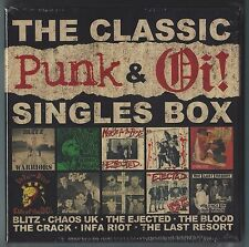 "THE CLASSIC PUNK & Oi! SINGLES BOX - VARIOUS 10 x COLOURED 7"" SINGLES - RR167"