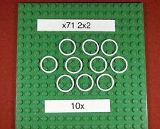 Gummiringe für LEGO Technik ( x71) Rubber Belt Small (2X2)-Weiß - 10 Stück