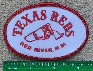Vintage Texas Reds Red River N.M. Restaurant Hat Patch