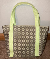 "Small Faux Alligator Handbag Purse Light Green Brown Mini Bag Geometric 10x7"""