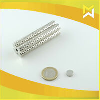 100 Stück Neodym Würfelmagnete Magnetwürfel 3x3x3 mm N45 vernickelt