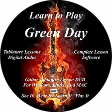 Green Day Guitar TABS Lesson CD 248 Songs + Backing Tracks + BONUS!!