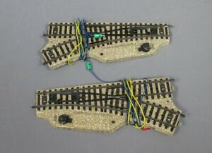 Marklin 5117 HO Left and Right Track Switches (Pair) EX