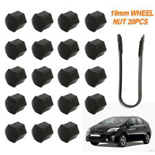 20Pcs 19mm Universal Wheel Lug Nut Bolt Cover Caps Removal Tools Black Sets