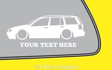 2x LOW YOUR TEXT Mk4 Golf Estate wagon 18t TDioutline sticker decal 219