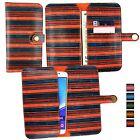 Vintage Rayures PU cuir portefeuille étui housse Support Pour XGODY TéléPhones