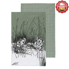 Blinky Bill by Ecology - 100 Cotton Tea Towel Set of 2 Sage Green
