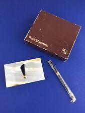 Vintage Park Sherman NJ Onyx Pen Holder & Pen NEW Original Box & Pen