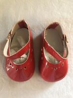 Monique Trading Co Doll Shoes #790 Red Heart Mary Jane 85mm
