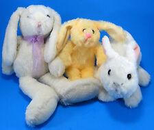 Lot 3 Bunny Rabbit Plush Stuffed Animals